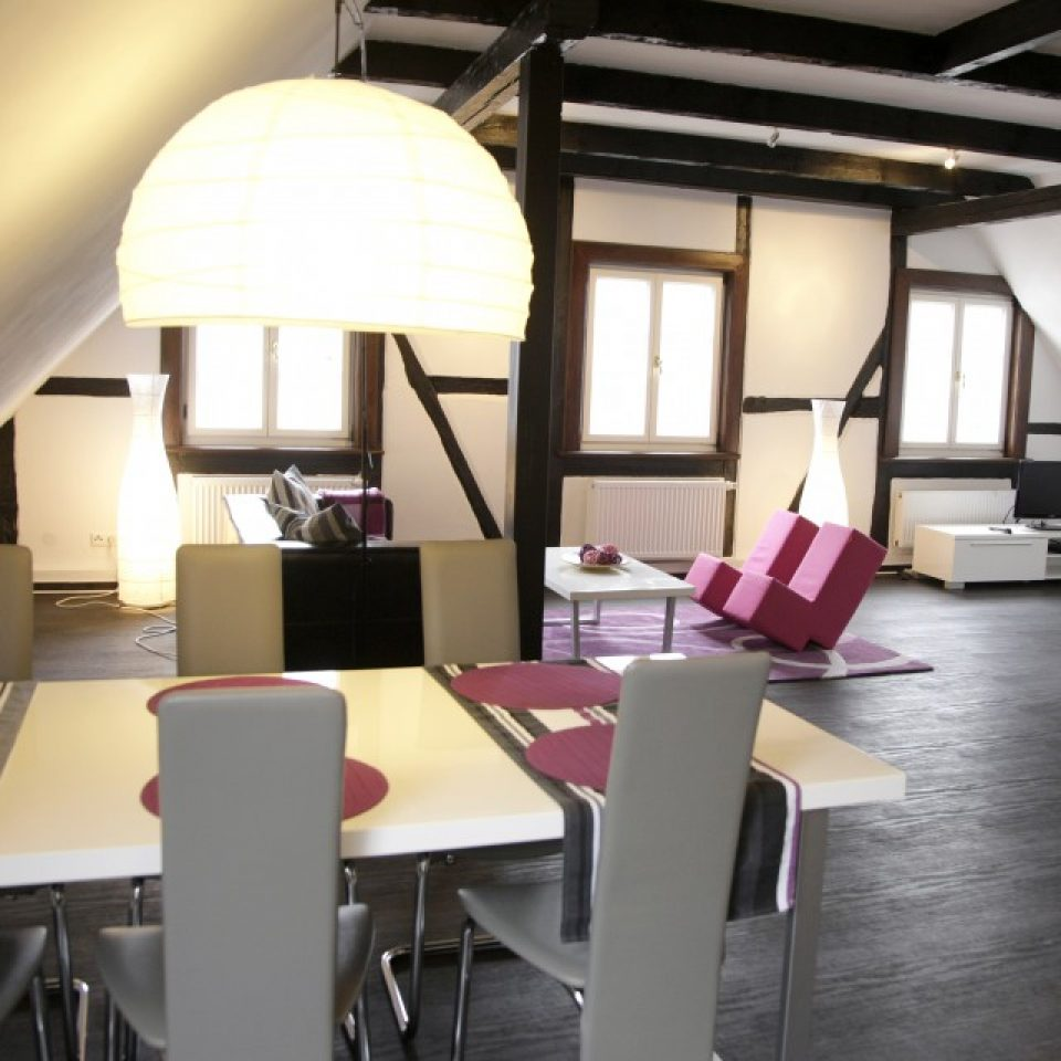 Grote appartement woonkamer